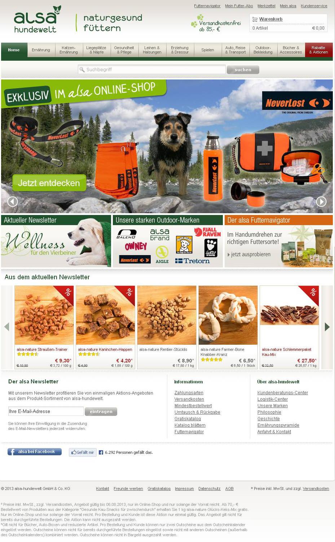 alsa-hundewelt - Hundefutter und Welpenfutter, Hundeleinen, Hundepflege, Hundespielzeug und Leckerli_20130806-105220.png